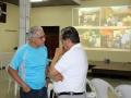 Pedro González, Coordinador de Proyectos de CCRD-C (izquierda) con miembro de Junta Directiva de Acción