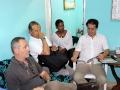 Valia Solis Peraza, Coordinadora de Programa Psicopastoral (centro) junto a algunos miembros de Junta Directiva de Acción