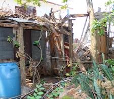 Vivienda afectada por el huracán Irma