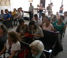Durante la presentación de libros de Ediciones Matanzas