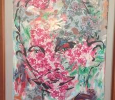 Una de las pinturas expuesta en la sala de la FAR, Feria Internacional del Libro