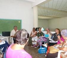 Intercambio con líderes comunitarios en Caibarién