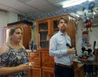 Claudia Betancourt, coordinadora de proyectos del CCRD-C y Bastiaan Engelhard, Jefe de Misión Adjunto de la Embajada