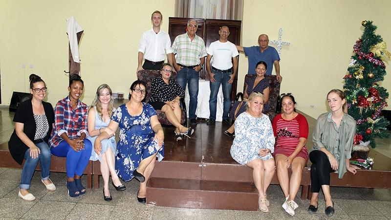Después de la representación teatral realizada en el CCRD-C ante los representantes de la embajada de Noruega en Cuba