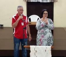 La Directora Ejecutiva del CCRD-C, Rita M. García, habla a los hombres de la Iglesia de Cristo