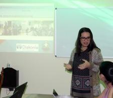 Beatriz Lima, Coordinadora de la Pastoral para la Reflexión y el Diálogo, habla sobre los avances del proyecto auspiciado por Diakonía