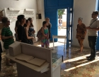 Grupo de IUW visitando el Museo Eclesiástico Nacional Blanca Rosa Ojeda. A la derecha, Abdel E. Martínez Valverde, asistente de la Pastoral Manos Amigas y Angelina Fariña, Directora del Museo