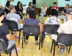 Durante una actividad de coordinación con líderes de diferentes comunidades