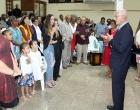 El pastor Raimundo García Franco nos dio la bendición de despedida