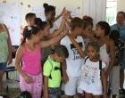 Los niños representan el Arca de Noé