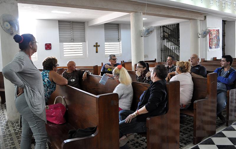 Pastores y líderes de la comunidad de Caibarién