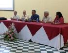 De izquierda a derecha, Rafael S. Herrera, Theodor Friederich, Rafael Ramírez José L. García, Sandra Lok, Comité organizador del evento
