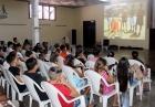 Durante la proyección de audiovisual educativo