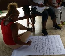 Ejercicio participativo celebrado durante el taller