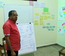 Presentación del trabajo con emprendedoras