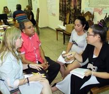 Trabajo grupal durante la evaluación