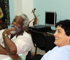 Víctor Fowler y Rita M. García Morris, Directora del CCRD-C