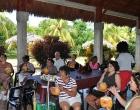 Mujeres beneficiadas por el Programa de atención psicopastoral durante su visita a la finca El Retiro