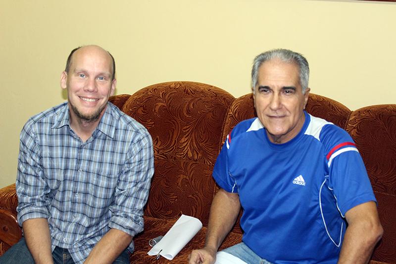 Magnus Halbäter (izquierda), oficial de Diakonía y Pedro González, Coordinador de Proyectos