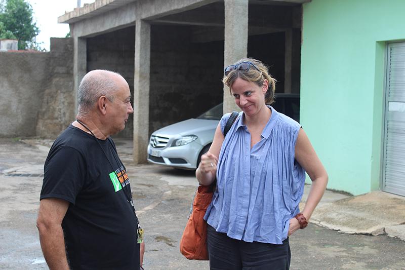 ( de izq. a derecha) Diego E. Valdés, coordinador del CID y Camille Monsine, especialista en Democracia y Derechos Humanos de ASDI