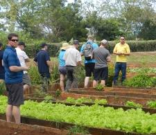 Grupo de agricultores canadienses llevados a la Finca por la agencia Cuba Top Travel