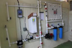 Instalación de la planta purificadora de agua