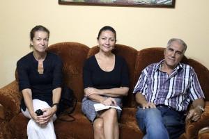 Sra. Kjersti Tromsdal, Consejera de la Embajada de Noruega en La Habana; Sra. Ingrid Mollestad, Embajadora y Pedro González Delgado, Coordinador de Proyectos