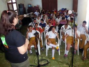 Día por la no violencia, celebrado en Pedro Betancourt