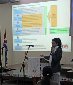 Taller de fortalecimiento institucional. Coordinadora de Proyectos, Jeanette M. Cobas