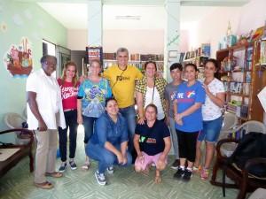 Líderes comunitarios de Jovellanos junto a los facilitadores del CCRD-C y la pastora Yodalis Santiago