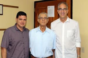 Visita al CCRD-Cuba de Dr. Dawid Danilo Bartelt (derecha), director de Fundación Heinrich Böll para México y el Caribe. A su lado, Rev. Raimundo García Franco y Julio A. Fernández Estrada