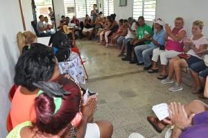 Feligreses de las comunidades Zorrilla, Cuatro Esquinas y Los Arabos celebrando el encuentro