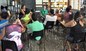 Escuela de educación familiar en la comunidad Merceditas