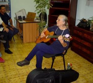 Visita de Teresita Fernández al CCRD-C, en febrero de 2006