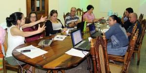 Encuentro entre Diana Montealegre, consultora de Diakonía y representantes de los Programas y Pastorales del CCRD-C