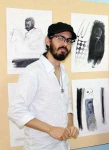 Adrián Gómez Sancho durante una de sus exposiciones en el CCRD-C