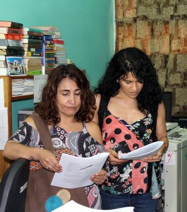 Joanna Castro Echeverri (derecha) y Claudia M. Gómez Wilson, representantes de Diakonia