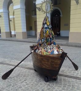 Virgen que llegas por aguas, obra de Sancho expuesta en la Bienal