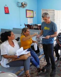 Frank A. Velázquez Zaldívar, de la Pastoral para la Reflexión y el Diálogo, intercambia con profesionales del territorio