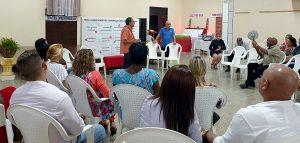 Encuentro de integrantes del sector privado cardenense con Edgar Sánchez, oficial de PPM, en el CCRD-C