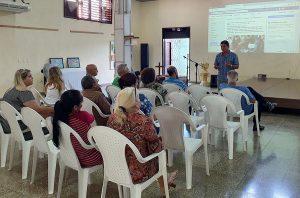 Encuentro sobre las TICs en el CCRD-C. Osmany Fernández, especialista de Publicaciones