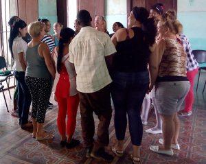 Taller sobre violencia de género, comunidad Bolodrón