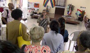 Beatriz Lima, Coordinadora de Pastoral para la Reflexión y Diálogo da la bienvenida al CCRD-C