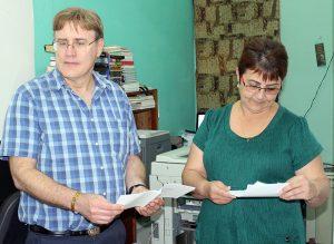 Embajador de Canadá en Cuba, Perry John Calderwood, junto a Rita M. García Morris, directora ejecutiva del CCRD-C