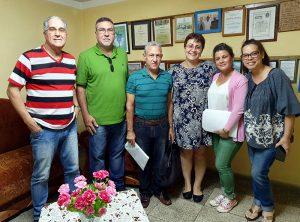 Representantes de MINJUS provincial (Matanzas) y directivos del CCRD-C